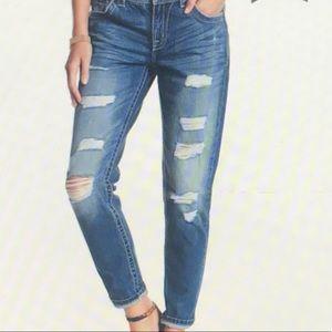 MISS ME Boyfriend Ankle Destressed Jeans 29